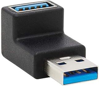 محول يو إس بي 3.0 من تريب لايت، محول يو إس بي 3.0، محول فائق السرعة، يو إس بي إيه/ F، زاوية أعلى 90 درجة، أسود (U324-000-UP)