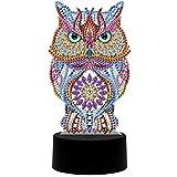 SZHTSWU DIY 5D Diamond Painting Lamp, Selbstgemachtes Kristall-Zeichen-Kit Nachtlicht-Kits mit...
