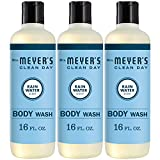 Mrs. Meyer's Clean Day Body Wash, Rain Water Scent, 16 Ounce Bottle (Pack of 3)