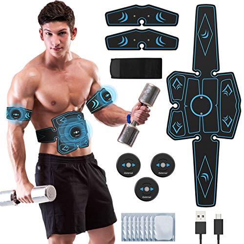 UIHOL EMS Bauchmuskeltrainer, EMS Elektrische Muskelstimulation USB-wiederaufladbarer...