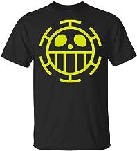 Cool Heart Pirate Logo Flag Trafalgar Law New Black Anime Top Mens Retro 90's Sitcom L.a. Law T-Shirt