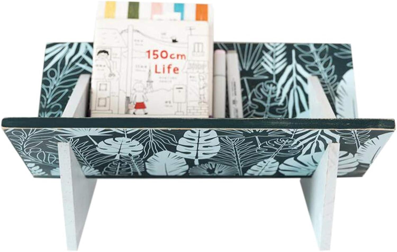 JCAFA Shelves Creative Bookcase Solid Wood Bedside Tabletop Bookcase Storage Table Shelf Unique Design, Multiple Styles (color   D)
