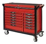 KS Tools 809.0013 - Servante d'atelier 13 tiroirs - Gamme ULTIMATE® - 4 roues robustes - Système de fermeture centralisé par serrure