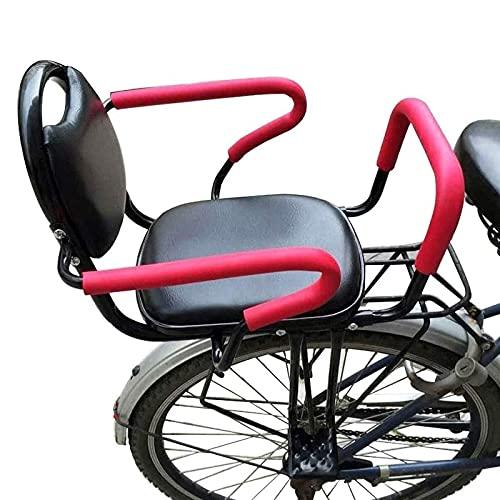WUTONG Asiento de Bicicleta Infantil Seguridad Desmontable con reposabrazos y cojín Trasero Acolchado portabicicletas