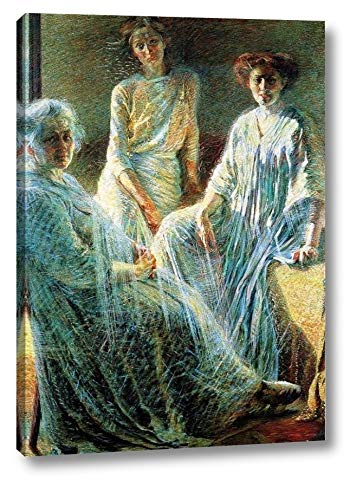 """The Women by Umberto Boccioni - 11"""" x 16"""" Gallery Wrap Canvas Art Print - Ready to Hang"""