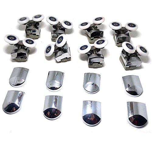 Repuesto ruedas para mampara de ducha cromo - 4 x Top & 4 x parte ...