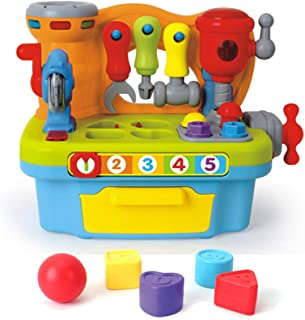Hola Toys - My Little Workshop, Building Toy, for Infant, Toddler, Preschool, Kids, Learning Toy, Kid's Birthday Present Idea,