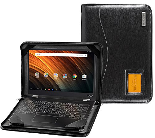 Broonel - Contour Series - Black Heavy Duty Vegan Leather Protective Case Cover Compatible With The Lenovo ThinkPad X1 Yoga 13' 2nd Generation 2017