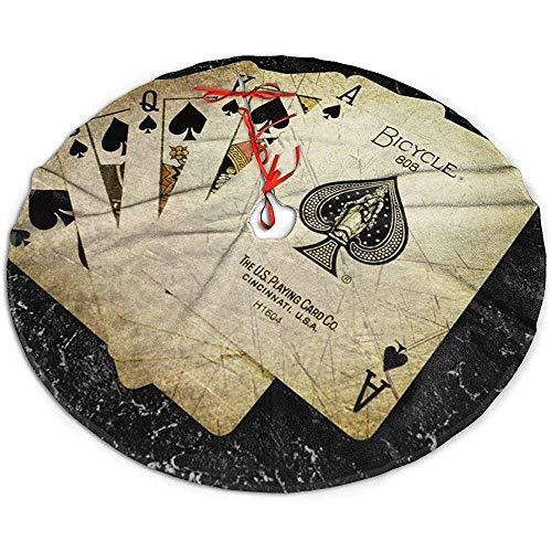 Egoa Kerstboom Rok Kaarten Verf Poker Een Fijne Decoratieve Vakantie Kerstmis Boom Rok Kerstboom Rok Boom Rok Party 122cm