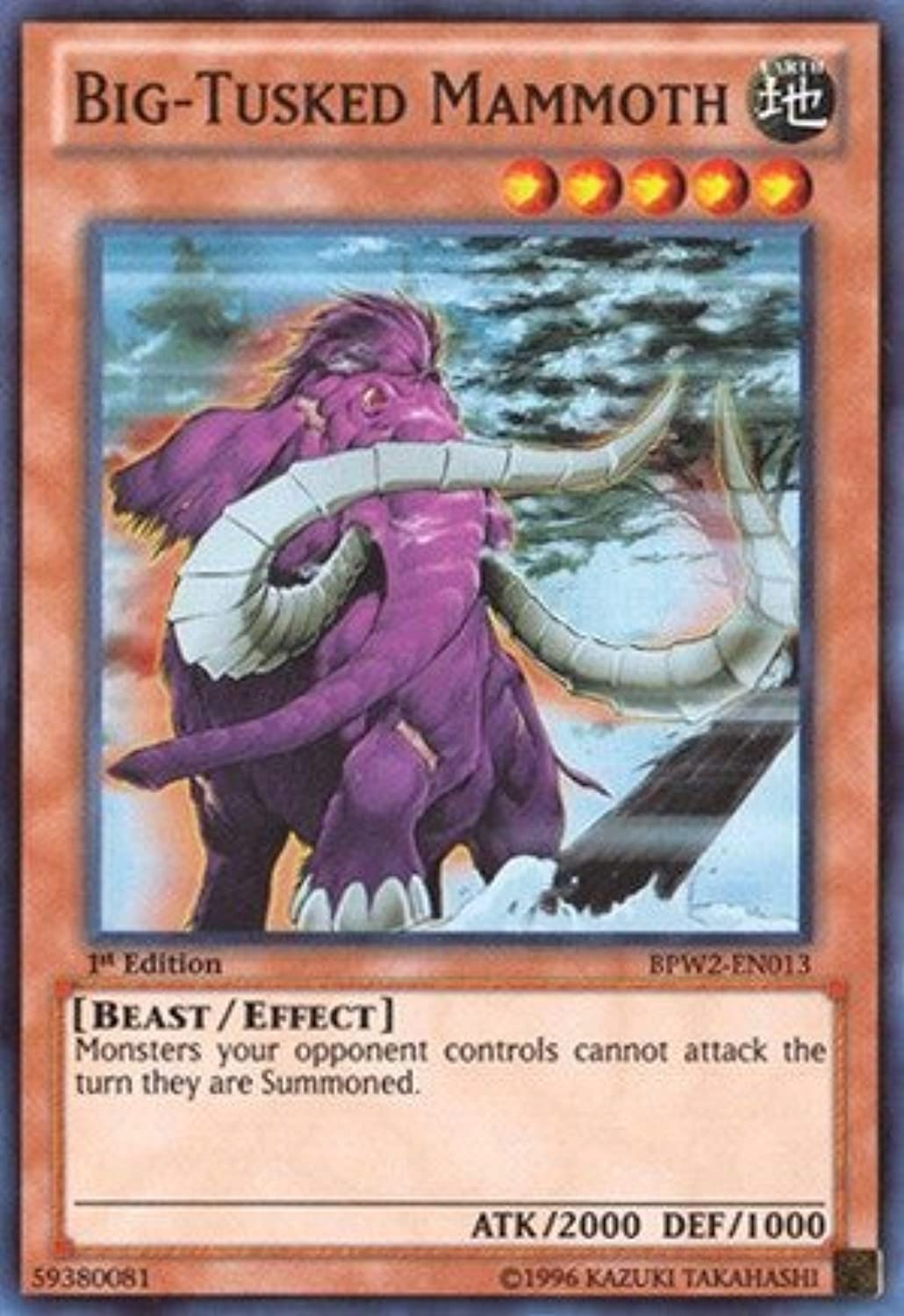 YuGiOh   BigTusked Mammoth (BPW2EN013)  Battle Pack 2  War of the Giants  Round 2  1st Edition  Super Rare by YuGiOh