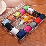 AIMG 12Mini Travel Caja de Coser para el hogar Set Needle Kit de Costura portátil Bolsas de Almacenamiento Misceláneas Organizador Herramientas para el hogar, como en la Imagen