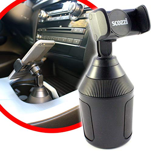 scozzi Universal Handyhalterung Auto Getränkehalter Dosenhalter Handy KFZ Halterung Halter (kompatibel mit Samsung,iPhone,Huawei) S21 S20 S10 S9 A71 A51 P40 P30 12 11 X XS XR Plus Mini Ultra Lite Pro