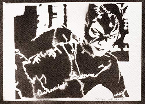 Catwoman Poster Plakat Handmade Graffiti Street Art - Artwork