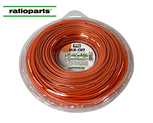 Ratioparts Nylonfaden 2,4 mm Alu-Cut 90 m Trimmerfaden Rund Orange Mähfaden
