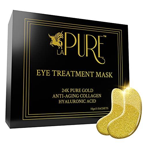 LA PURE 24K Gold Eye Treatment Mask…