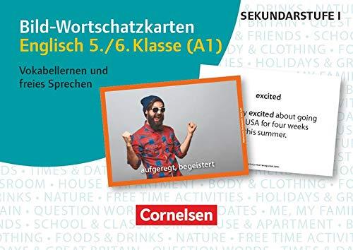 Bild-Wortschatzkarten Fremdsprachen Sekundarstufe I: Englisch 5./6. Klasse (A1) - Vokabellernen und freies Sprechen - 300 Bildkarten