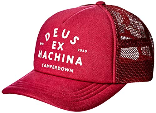Deus Trucker Cap Austin CAMPERDOWN Trucker DMW97106A-RED - Gorra, color rojo