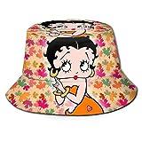 TV Show-Betty-Boop Sombrero de Pescador Sombrero para el Sol - Protección Ultravioleta y Transpirable Gorra de Cubo de ala Ancha para Exteriores-TK