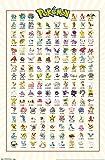 Trends International Pokemon Kanto Grid Wall Poster 22.375' X 34'