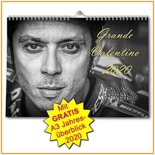 Valentino Rossi Kalender 2020 - Premium Wandkalender im Format DIN A3 - MotoGP