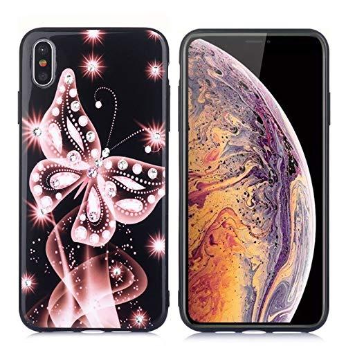 Ohne Markenzeichen Cubierta Sueño de la Mariposa Caja del teléfono móvil del Diamante del Estilo del Brillo (Color : Pink, Size : For iPhone 6s)