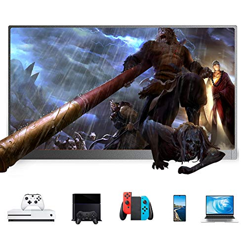 DKLGG Led Portable Monitor 13.3' Screen, Pc Portable Monitor Display, 3200 x 1800 HD IPS, Double Blind Plug with Type-c Power Supply Mini Hdmi for Laptop Computer Mac Phone Xbox Ps4