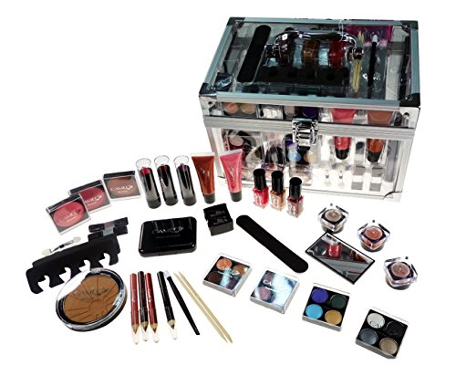 7. Shany Carry All Trunk Makeup Set