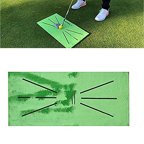 asdfZXCV Alfombrilla De Entrenamiento De Golf para Detección De Swing Bateo Mini Alfombra De Entrenamiento De Golf Pelota Verde Herramienta De Ayudas para El Entrenamiento Alfombra
