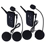 Amazingbuy - 2 Sets Vnetphone V6 BT Intercom Bluetooth Interphone 1200M Range 6 Riders Motorcycle Helmet - Motorcycle Snowmobile Multi Interphone Headsets 6 Riders. Great for Skiing and Riding