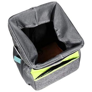 Panier de vélo amovible pour animal de compagnie, sac de transport portable, sac de vélo imperméable à l'eau, pour animal de compagnie, shopping, navette, camping et plein air 11 x 30,5 cm