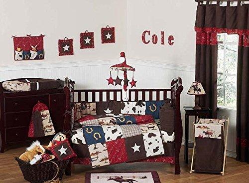 Sweet Jojo Designs Wild West Cowboy Western Musical Baby Crib Mobile