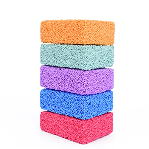 Special Supplies Fun Foam Modeling Foam Beads Play Kit, 5 Blocks Children's Educational Clay for Arts Crafts Kindergarten, Preschool Kids Toys Develop Creativity, Motor Skills