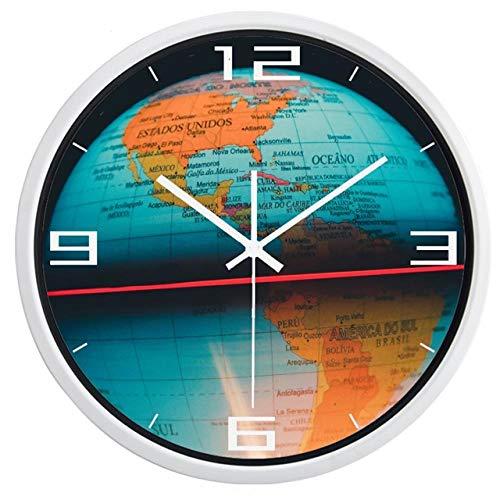 Horloge Murale l'horloge Murale De L'Hémisphère Occidental Horloge Murale Silencieuse Décor À La Maison Montre De Conception Personnalisée 14 Pouces B