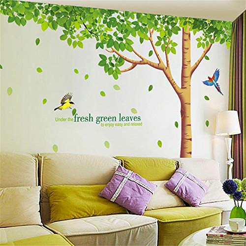 Preisvergleich Produktbild Xcao 310X204 cm 122X80In 3D DIY Grün Schatten Wald Pvc Wandtattoos Klebstoff Wandaufkleber Hintergrund Dekoration Wandbild Kunst Wohnkultur