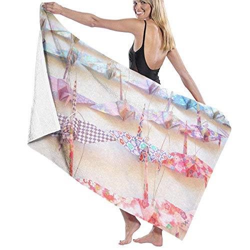 "PdGAmats 31"" X 51"" High Origami Hanging Crane Lightweight Large Bath Sheet"