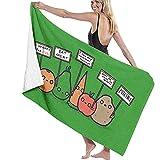 N/A Toallas de baño Veganos protestantes Verduras Divertidas Toalla de Playa Multiusos Ultra Suave