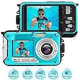 Unterwasserkamera 2.7K Full HD Digitalkamera Wasserdicht 48 MP Unterwasserkamera Digital Wasserdicht Selfie Camcorder