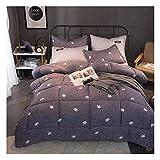 GELing Bettwäsche Set Polyester-Baumwolle Bettbezug-Set Einzelbett Doppelbett ,Farbe 9,150cm 3.5kg200cm 2.5kg
