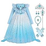 IBAKOM Disfraz de princesa para niños, disfraz de carnaval, Halloween, Navidad, cosplay, manga larga, para invierno, festividad, festival, accesorios