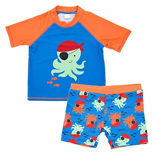 Baywell Kind Bademode Jungen Schwimmbekleidung Badeshorts Uv-Schutz Bade-Set 2-teiliges Badeset Swimwear