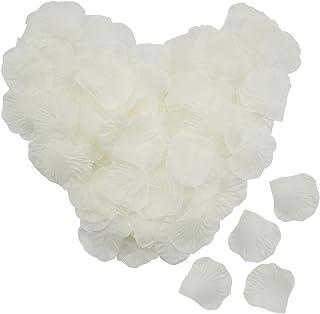 Lawei - Pétalos de Rosa de Seda Artificiales, 4000 Unidades, pétalos de Rosa para Bodas, Fiestas, hogar, Hotel, decoración del día de San Valentín, Color Marfil