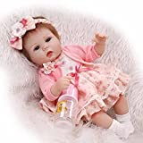 Pinky Lovely Soft Silicone Vinyl 17' 43cm Baby Doll Real Life Like Reborn Realistic Newborn Nurturing Dolls...