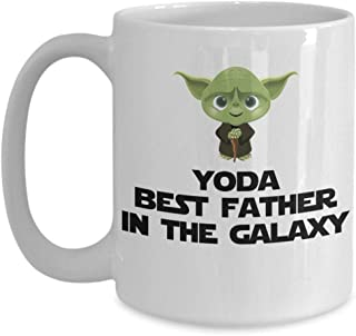 Yoda Best Father In The Galaxy Funny Coffee Mug Gift For Dad Dad Birthday Gift