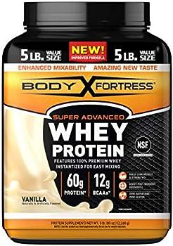 Body Fortress Super Advanced Whey Protein Powder, 5 Lbs