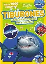 Tiburones: Libro de actividades con etiquetas (Spanish Edition)