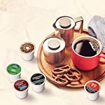 Keurig k-cup pod variety pack, single-serve coffee k-cup pods, amazon exclusive, 72 count 14 includes: 3 k-cup pods from 20 popular varieties, including green mountain coffee breakfast blend, the original donut shop regular, newman's own organic special blend, caribou coffee caribou blend, tully's coffee italian roast, and many more variety: sample different coffees and discover your favorites from a wide variety of roasts, flavors, and brands compatibility: contains authentic keurig k-cup pods, engineered for guaranteed quality and compatibility with all keurig k-cup coffee makers