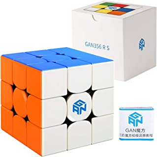 Coogam Gan 356 RS Cube de Vitesse 3X3 Gans 356 RS Cube Magique sans Autocollant Gan 356RS Cube Casse-tête GES V3 Système