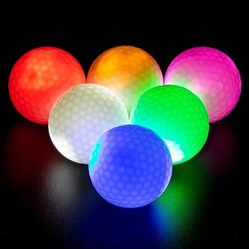 GOANDO Glow Golf Balls Night Sports Light up LED Golf Ball Glow in The Dark Golf Balls