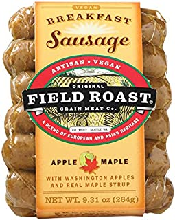 Field Roast Apple Maple Breakfast Sausage 9.3 Oz (4 Pack)