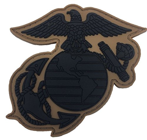 SUBDUED US MARINE CORPS EAGLE GLOBE & ANCHOR PVC PATCH
